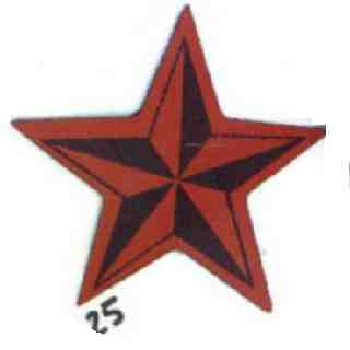 Tygmärke Red star